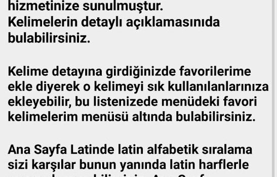 Osmanlıca-Türkçe Sözlük Ekran Görüntüleri - 4
