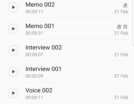 Samsung Ses Kaydedici Ekran Görüntüleri - 1