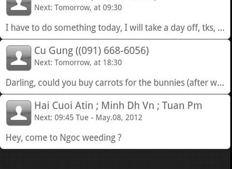 Schedule SMS Ekran Görüntüleri - 2