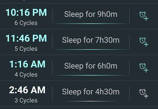 Sleep Calculator Ekran Görüntüleri - 3