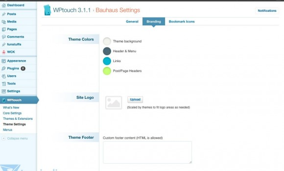 WP Touch Ekran Görüntüleri - 1