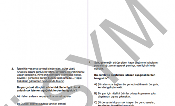 YGS 2015 Soru ve Cevapları Ekran Görüntüleri - 1