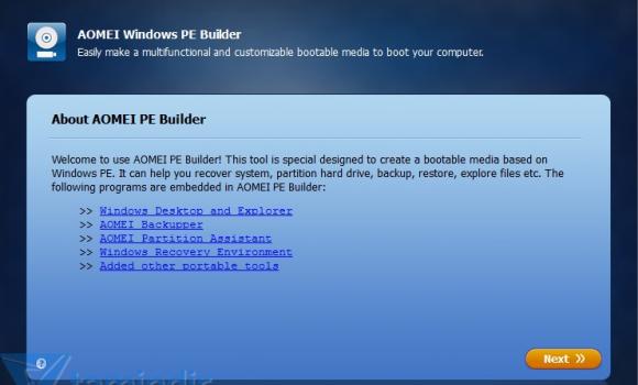 AOMEI PE Builder Ekran Görüntüleri - 5