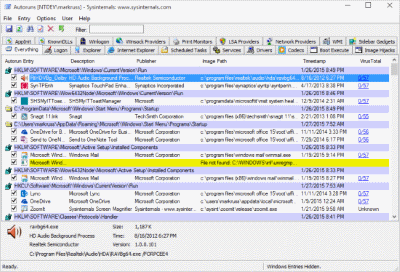 Autoruns for Windows Ekran Görüntüleri - 1