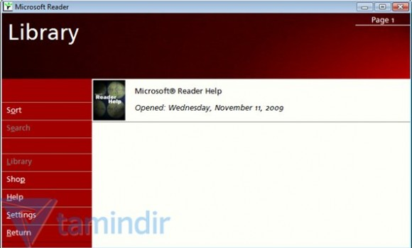Microsoft Reader Ekran Görüntüleri - 1