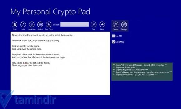 My Personal Crypto Pad Ekran Görüntüleri - 4