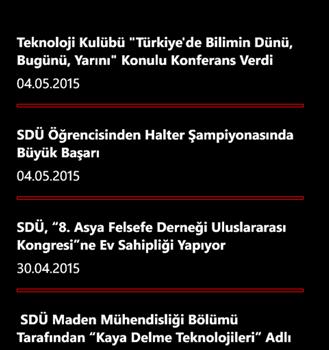 Süleyman Demirel Üniversitesi Ekran Görüntüleri - 5
