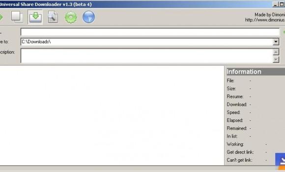 Universal Share Downloader Ekran Görüntüleri - 1