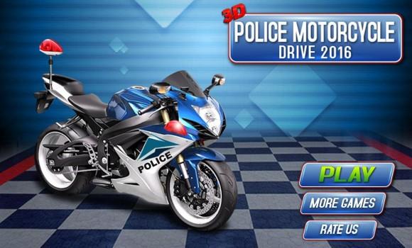 3D Police Motorcycle Race 2016 Ekran Görüntüleri - 5