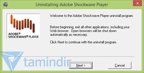 Adobe Shockwave Player Uninstaller Ekran Görüntüleri - 1