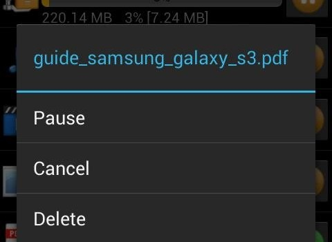 Android Download Manager Ekran Görüntüleri - 2
