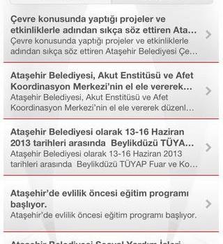 Ataşehir Belediyesi Ekran Görüntüleri - 1