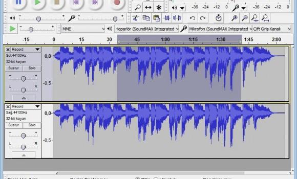 Audacity Ekran Görüntüleri - 4