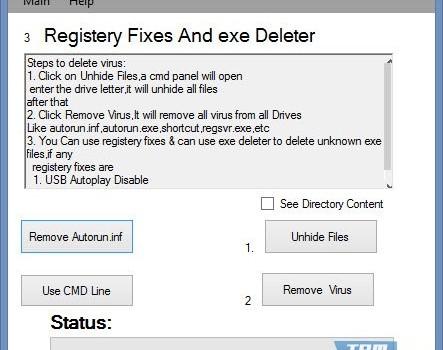 Autorun Shortcut USB Virus Remover Ekran Görüntüleri - 2