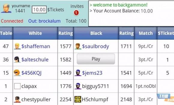 Backgammon Live Online Ekran Görüntüleri - 1