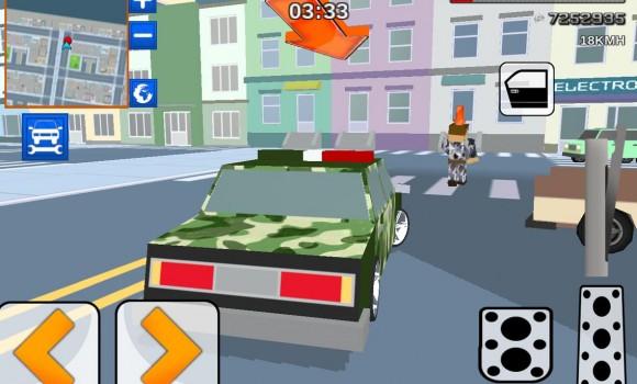 Blocky Army City Rush Racer Ekran Görüntüleri - 4