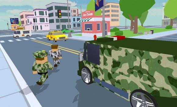 Blocky Army City Rush Racer Ekran Görüntüleri - 3