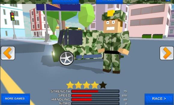 Blocky Army City Rush Racer Ekran Görüntüleri - 2