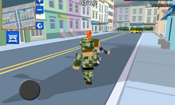 Blocky Army City Rush Racer Ekran Görüntüleri - 1