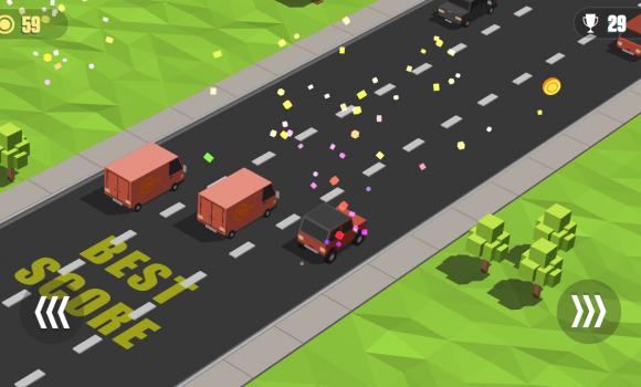 Blocky Cars: Traffic Rush Ekran Görüntüleri - 4