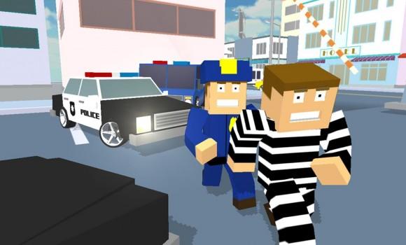 Blocky Cop Craft Running Thief Ekran Görüntüleri - 3