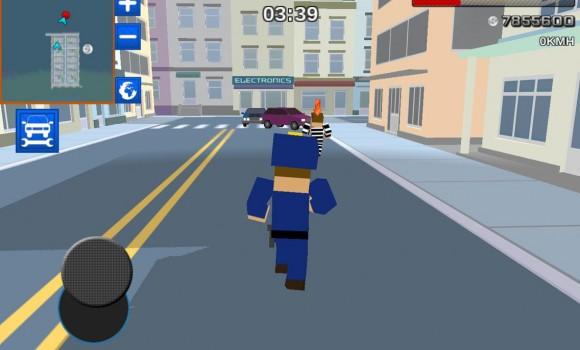 Blocky Cop Craft Running Thief Ekran Görüntüleri - 2
