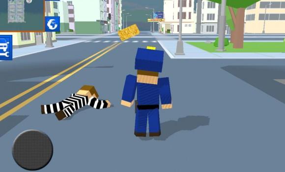 Blocky Cop Craft Running Thief Ekran Görüntüleri - 1
