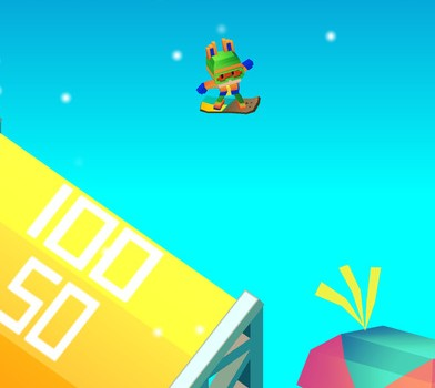 Blocky Snowboarding Ekran Görüntüleri - 3