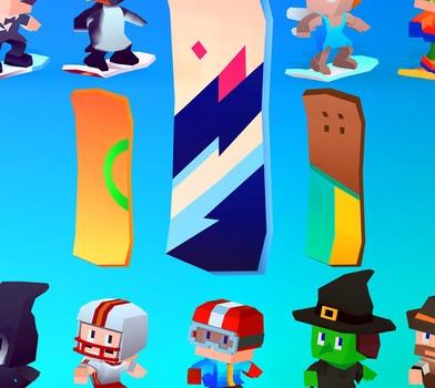 Blocky Snowboarding Ekran Görüntüleri - 1