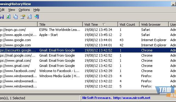 BrowsingHistoryView 64-Bit Ekran Görüntüleri - 1