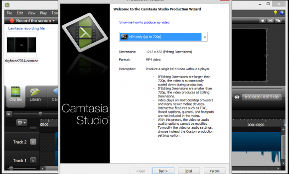 Camtasia Studio Ekran Görüntüleri - 1