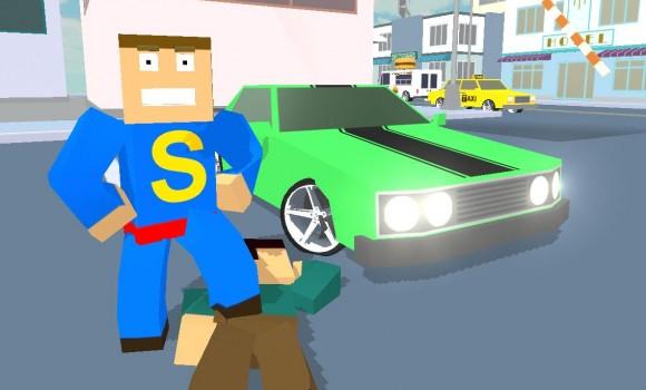 Car Craft Blocky City Racer Ekran Görüntüleri - 2