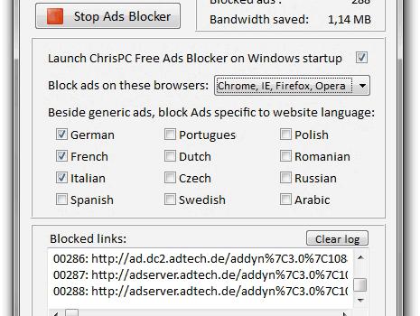 ChrisPC Free Ads Blocker Ekran Görüntüleri - 1