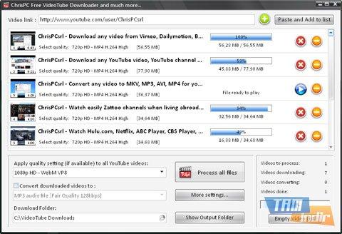 ChrisPC Free VideoTube Downloader Ekran Görüntüleri - 1