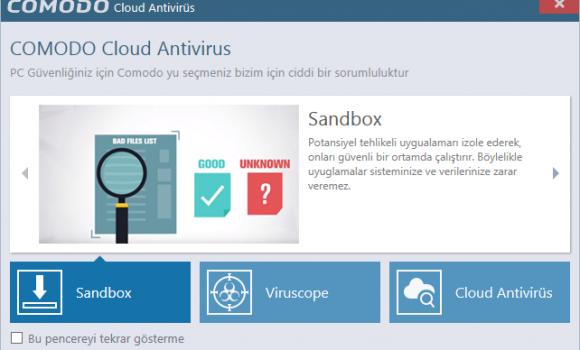 Comodo Cloud Antivirus Ekran Görüntüleri - 5