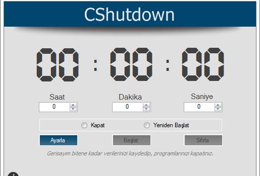 CShutdown Ekran Görüntüleri - 2