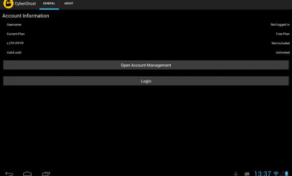 CyberGhost VPN Ekran Görüntüleri - 8