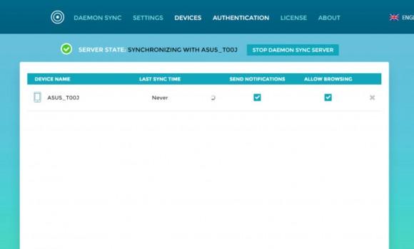 DAEMON Sync Server Ekran Görüntüleri - 2