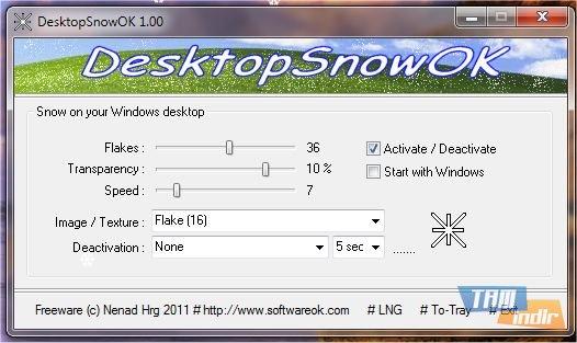 DesktopSnowOK Ekran Görüntüleri - 2