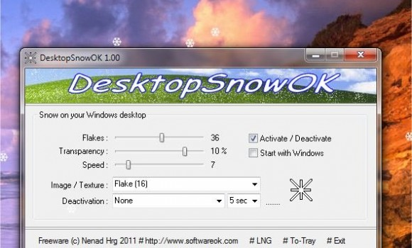 DesktopSnowOK Ekran Görüntüleri - 1