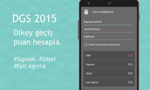 DGS 2015 Puanmatik Ekran Görüntüleri - 2