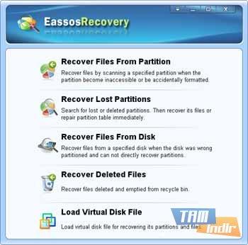 EassosRecovery Free Ekran Görüntüleri - 1