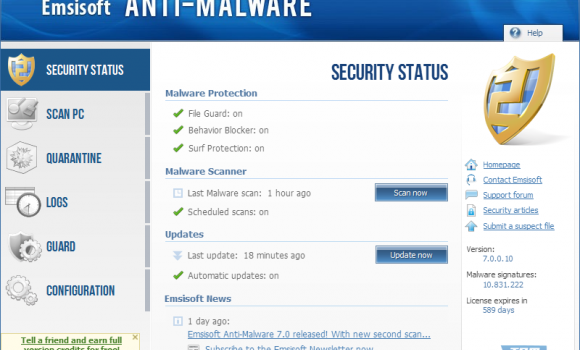 Emsisoft Internet Security Pack Ekran Görüntüleri - 8