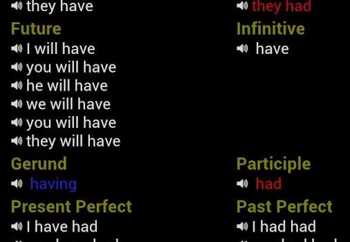 English Verbs Ekran Görüntüleri - 4