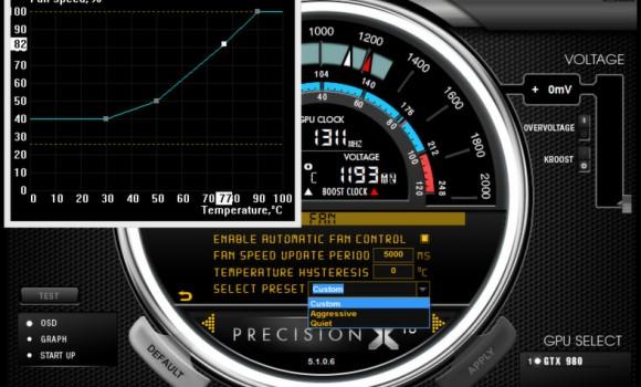 EVGA PrecisionX Ekran Görüntüleri - 3