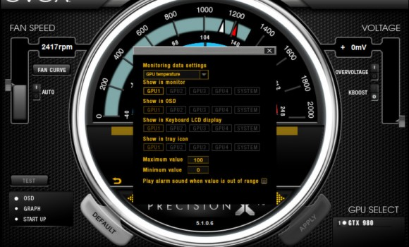 EVGA PrecisionX Ekran Görüntüleri - 2