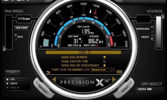 EVGA PrecisionX Ekran Görüntüleri - 1