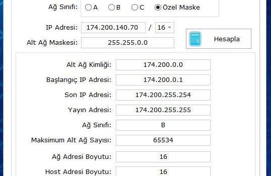 Extremity Subnet Calculator Free Ekran Görüntüleri - 3