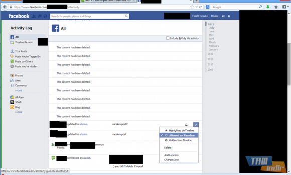 Facebook Activity Remover Ekran Görüntüleri - 1