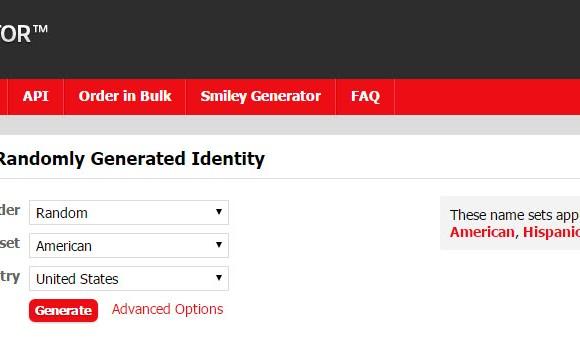 Fake Name Generator Ekran Görüntüleri - 2